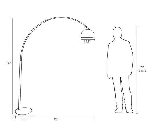 Contemporary Floor Lamp Chrome