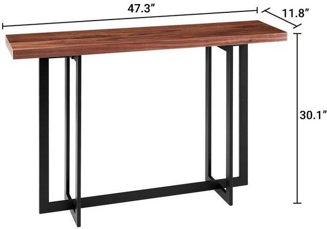 Hardy Console Table Walnut & Black