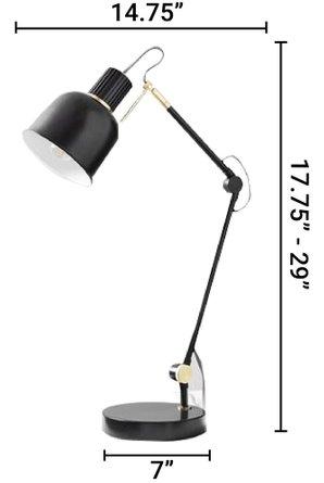 West Elm Clinton Task Lamp Black