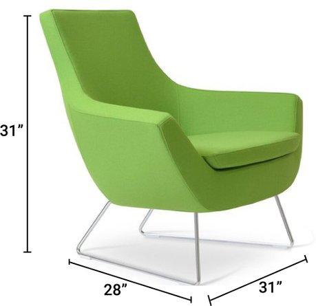 Rebecca Lounge Chair Pistachio
