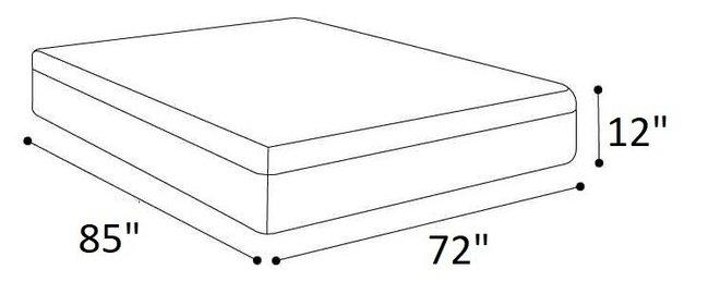 """Medium Memory Foam King Mattress 12"""""""