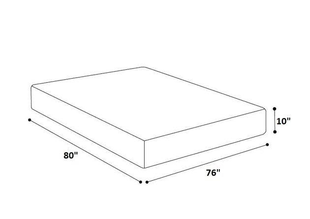 """Medium Memory Foam King Mattress 10"""""""
