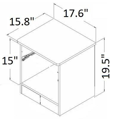 Libra 1-Drawer Nightstand Black