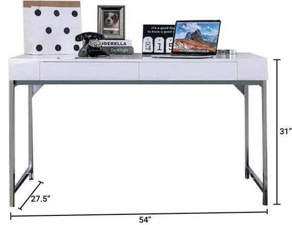 Loke Desk White And Chrome