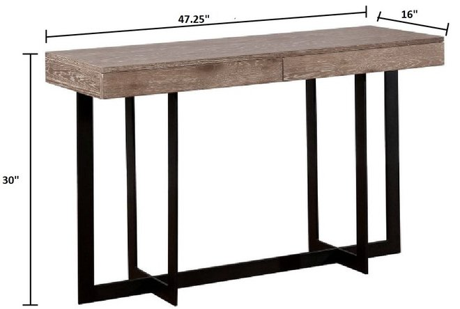 Sawyer Sofa Table Gray Wash And Sand Black