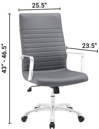 Finesse Highback Office Chair Gray