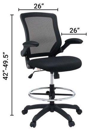 Veer Drafting Chair Black