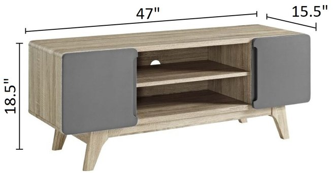 """Tread 47"""" TV Stand Natural Gray"""
