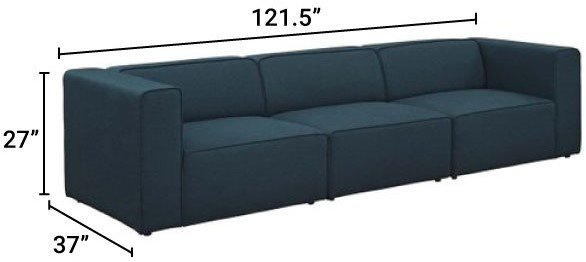Mingle Upholstered Sectional Sofa Set Blue