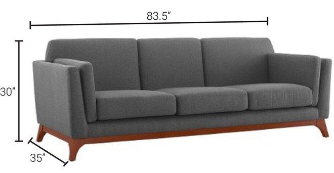 Chance Upholstered Fabric Sofa Gray