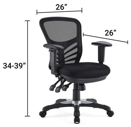 Articulate Mesh Office Chair Black