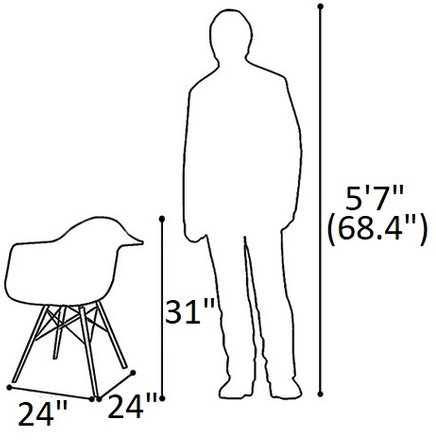 Buran Padded Arm Chair Walnut