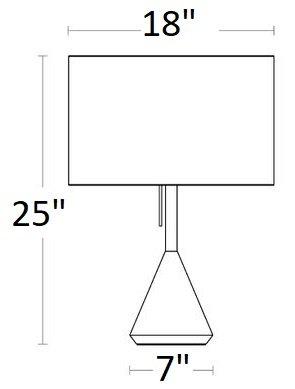 Flask Table Lamp Whitewashed Ash