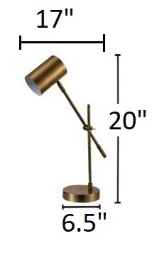 "Chort 20"" Desk Lamp Brass"