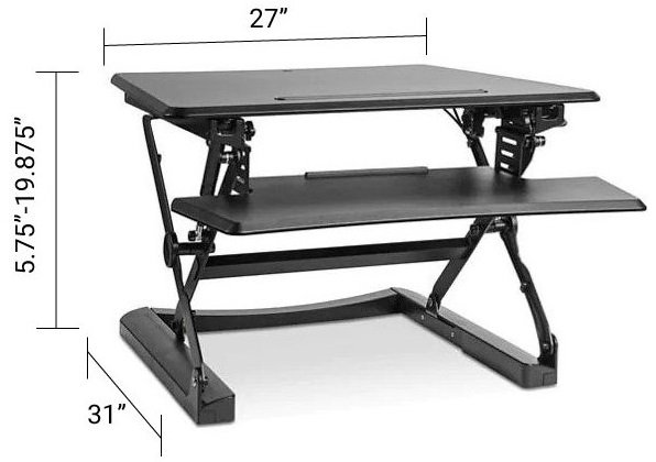 Sit-Stand Desktop Riser Small Black
