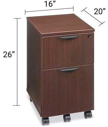 Downtown Mobile Pedestal File Cabinet Espresso