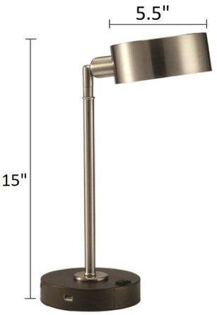 Gail Table Lamp Stain Nickel