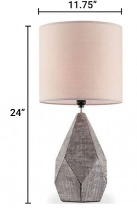 Zoe Table Lamp Silver