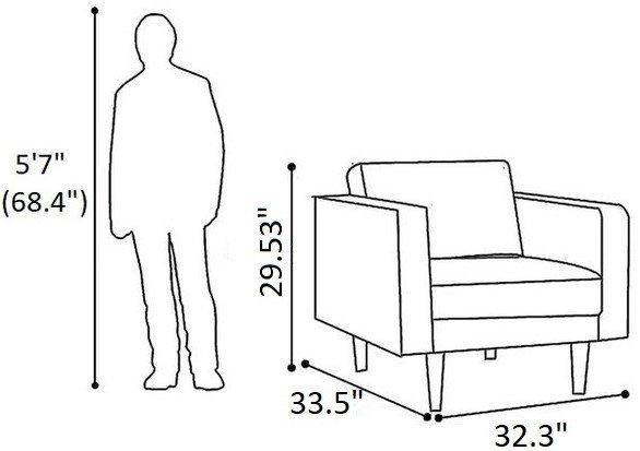 Achernar Mid-Century Modern Chair Dark Gray