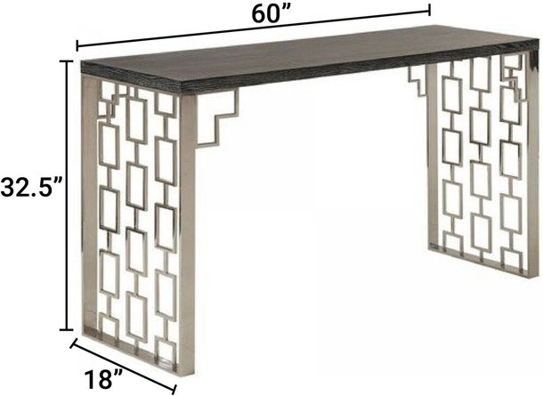 Tony Skyline Console Table Black And Silver