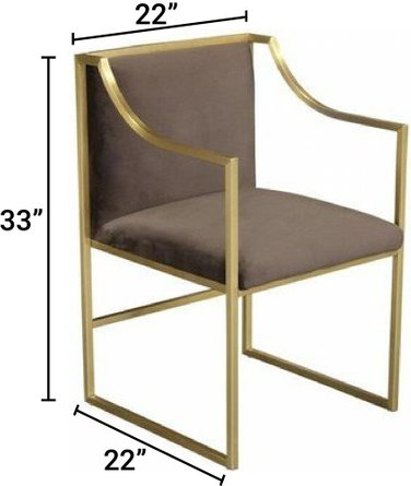 Nana Contemporary Dining Chair Brown