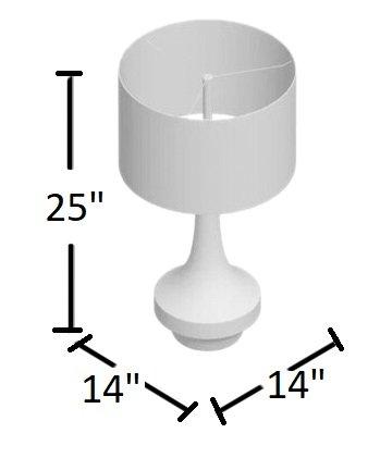 "Sandy 26"" Table Lamp Brown"