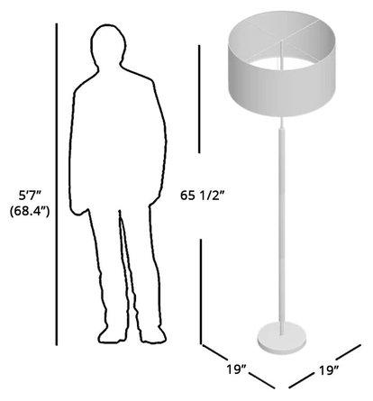 """Huron 66"""" Floor Lamp"""