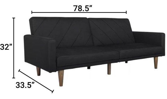Hawkins Sleeper Sofa Black