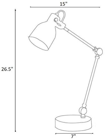"Harbor 26.5"" Desk Lamp Black"