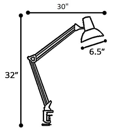 Howland Task Lamp White