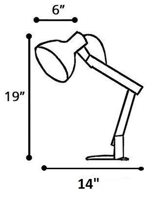 Galvan LED Task Table Lamp White