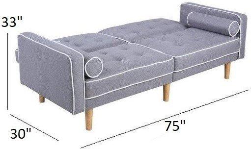 Milton Convertible Sleeper Sofa Light Gray