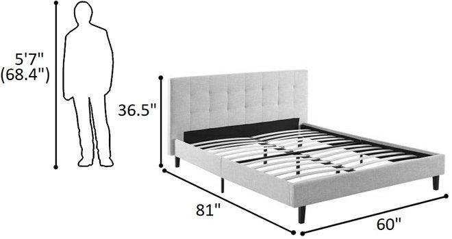 Linnea Full Bed Beige