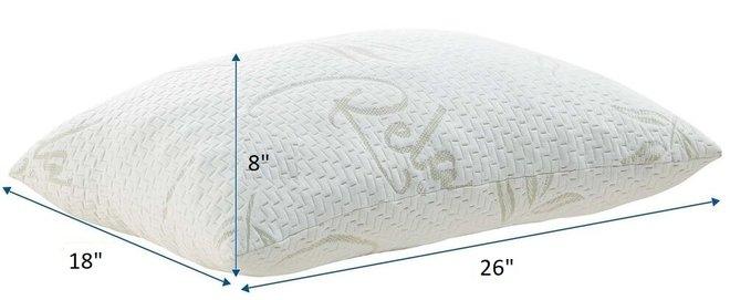 Relax Standard Queen Pillow White