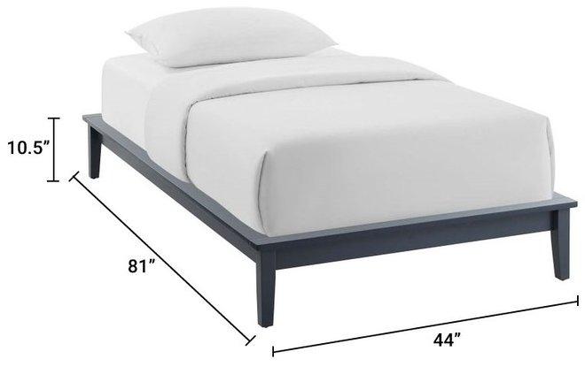 Lodge Platform Twin Bed Frame Gray