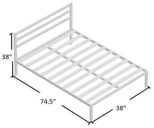 Lewis Platform Twin Bed Black