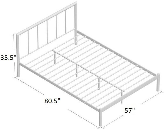 Heming Full Platform Bed Black