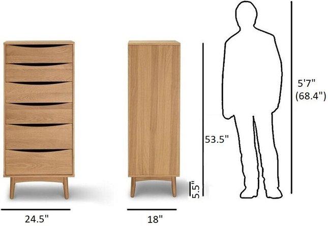 Article Culla 6 Drawer Dresser Oak