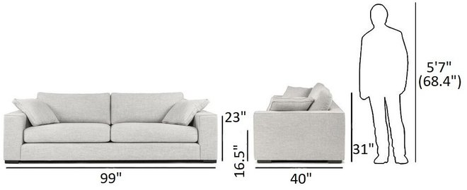 Article Sitka Modern Contemporary Sofa Gray And Baroque