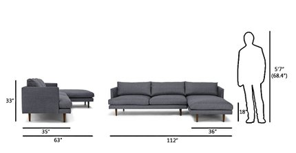 Fine Burrard Right Sectional Sofa Stone Blue Gamerscity Chair Design For Home Gamerscityorg