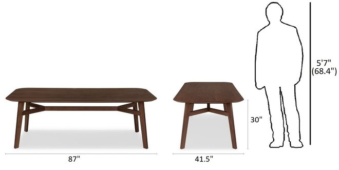 Article Ventu Dining Table For 8 Matte Walnut