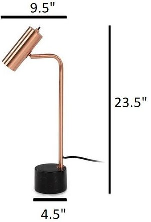 Article Crane Table Lamp Copper