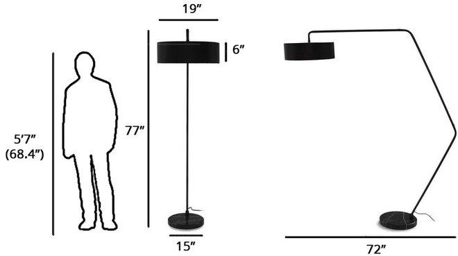 Article Heron Floor Lamp Black