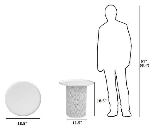 Article Equa Side Table White