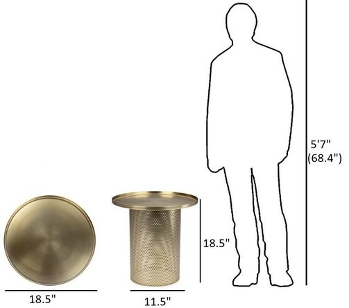 Article Equa Side Table Brushed Brass