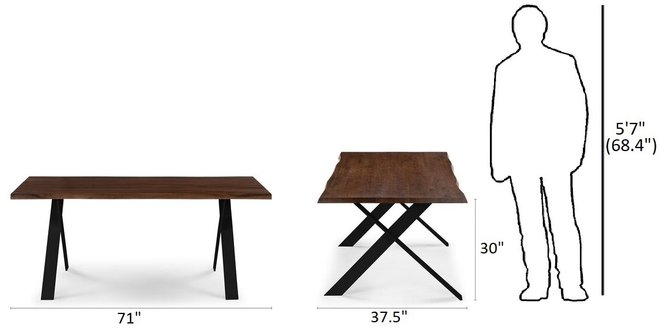 Article Festa Dining Table For 6 Walnut