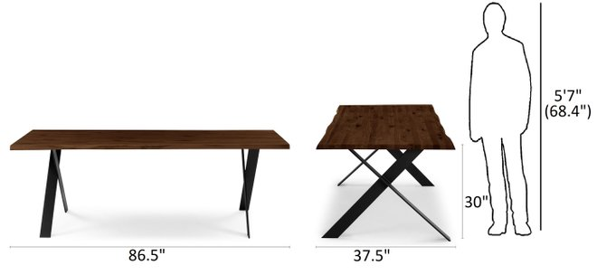 Article Festa Dining Table For 8 Walnut