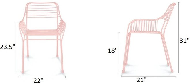 Article Caya Dining Chair Verbena Pink (Set of 2)