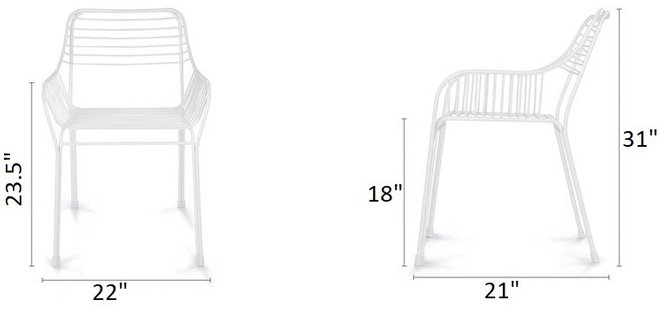 Article Caya Dining Chair Dahlia White (Set of 2)