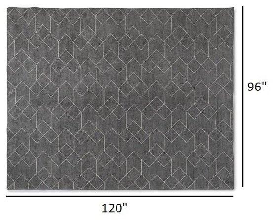 Article Polygon Rug 8 X 10 Basalt Gray